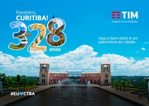 TIM realiza ações para homenagear aniversário de Curitiba