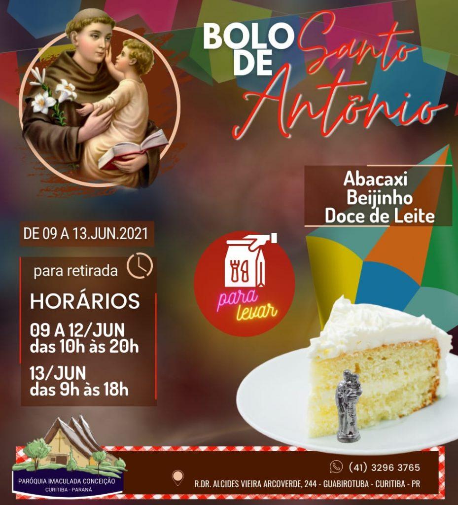 Bolo de Santo Antônio começa a ser vendido em Curitiba nesta quarta