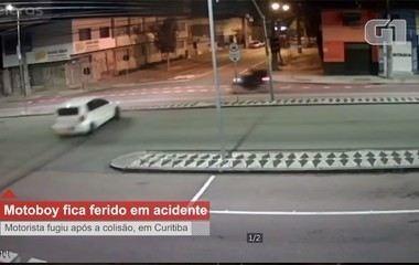 Motociclista fica gravemente ferido ao ser atingido por carro em Curitiba