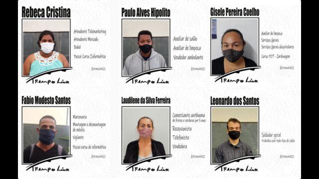 Candidatos cadastrados pelo projeto Trampolink