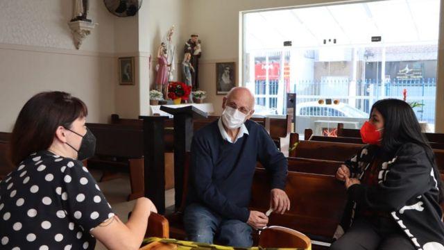 Paula Luna, Vivi Torrico e padre Júlio Lancelotti