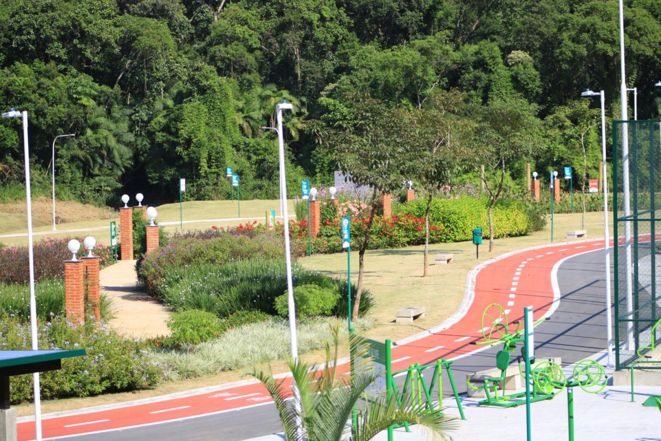 Ciclovia permite andar de bicicleta em todo o parque - Divulgação/PMJS