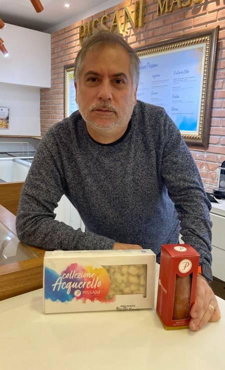 Carlos Affonso e a dobradinha de nhoque e molho pomodoro da Pissani Foto: Divulgação